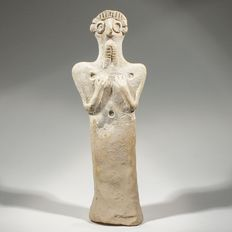 Syrian terracotta male idol H 17 cm
