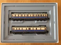 Märklin H0 - 2881 – Imperial court train Wilhelm II: Set of 2 different carriages: Salon carriage of the Emperor and court train baggage car