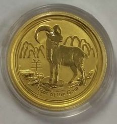 Australia - 25 Dollars 2015 'Year of the Goat' - ¼ oz gold