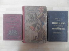 Lot with three volumes about London - 1803 / 1862