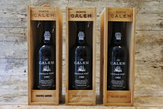 1985 Vintage Port Calem - 3 bottles in Calem wooden cases