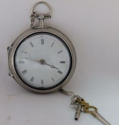 Gentlemen's pocket watch, Verge Fuseé French producer Circa 1820.