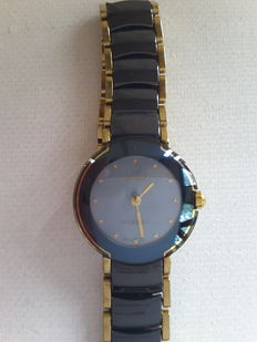 Rado Diastar Coupole ladies' black ceramic and gold watch