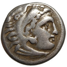 Ancient Greece – Macedonia – Alexander III. the Great (336-323 BC) AR Drachma, Colophon, Star, approx. 323-319 BC