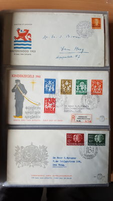 The Netherlands 1953/2006 – Collection of First Day Covers (FDCs) in three (3) DAVO albums