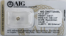 0.42  ct Brilliant cut  Diamond  J  SI3