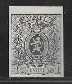 Belgium 1867 – Small Lion with sheet edge – OBP 22