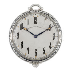 Art Deco pocket watch by C.H. Meylan, Brassus for Cowell & Hubbard Co ca 1910s