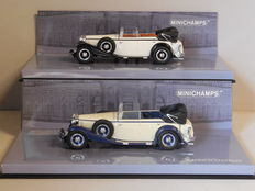 Minichamps - Scale 1/43 - Lot with 2 x Maybach Zeppelin DS 8 1932