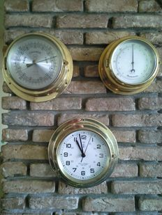 2 x Observer and 1 x Datema Delfzijl-Baromether-Thermometer and Clock.