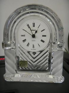 Small antique clock made of Baccarat crystal.