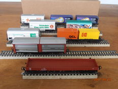 Märklin H0 - 4633/4415/94102/94102 - 9 various freight carriages