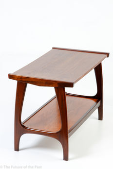 Unknown designer - mid-century modern coffee table in teak veneer