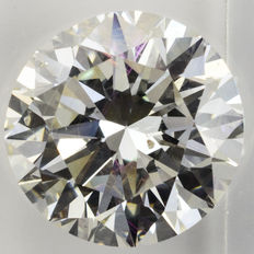 3.83 Carat Certified loose diamond H  VS2 Diamond
