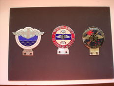 Morgan Club Car badges 3 stuks