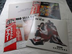 A lot of 4 lp's from the Who. The Who A Quick one  Japanese lp / The Who Sell Out Japanese lp / The Who BBC Sessions a double album / The Who Filmore East a bootleg on Colored vinyl