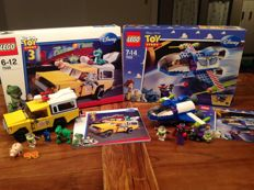Toy Story - 7598 + 7593 - Pizza Planet Truck Rescue + Buzz's Star Command Spaceship