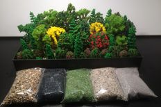 Scenery N - Trees 76 pieces and 5 bags of ground cover