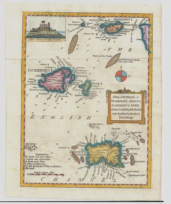 Channel Islands England France John Royce A Map Of The Islands