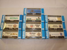 Märklin H0 - 10x Refrigerated beer vans, various limited edition liveries (Lot 16)