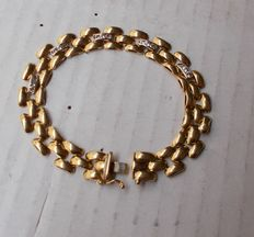 Bracelet – 18 kt gold – 14.5 grams – 17 cm in length.