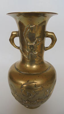 Chinese vase in brass - China - mid 20th century