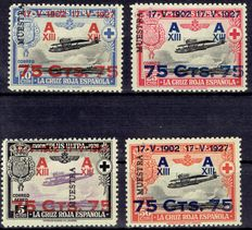 Spain 1927 – 25th Anniversary of the Constitutional Oath by Alfonso XIII – Edifil 388M/391M Sample