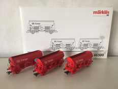 Märklin H0 - 46300 - 3 side unloaders of DB cargo
