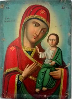 """Mother of God"" . Russia,  XIX Century"