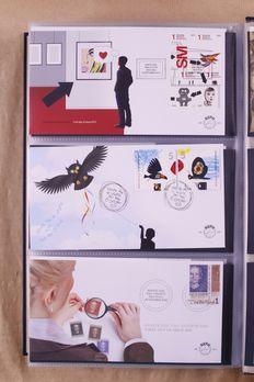 The Netherlands 1960/2012 - Complete collection of FDCs in three (3) DAVO preprint albums -  NVPH E42/E663