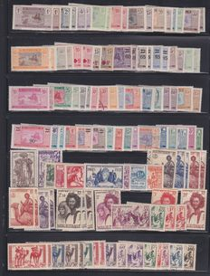 Mauritania 1903/1980 - large collection of series, Airmail, Tax, more than 500 stamps.
