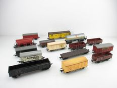 Fleischmann H0 - 15x Various Goods wagons mostly of the DB