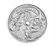 Australia - 1 AUD - Phoenix and Dragon 2017 - 1 oz - 999 silver coin