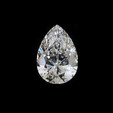 GIA 1.56 ct D IF pear brilliant-cut diamond (Internally Flawless, Loupe Clean)