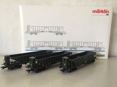 "Marklin H0 - 46801 - Set of 3 ""Coal bucket carriages"" of K.Bay.St. B."