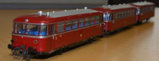 "Roco H0 - 43018/43019 - 3-piece Diesel train unit BR 798 ""Schienenbus"" of the DB"