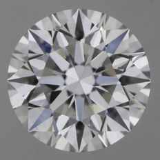 1.00 ct brilliant cut, D-VS2