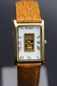 Stauer Credit Suisse with a certified .999 gold bar – Men's Wristwatch – Never worn