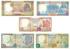 Syria - 50 to 1,000 Pounds 1997/1998 - Pick 107-111
