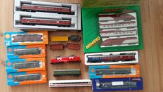 Kato/Roco/Fleischmann/Mehano/Lima H0 - 2x locomotives, 2x train units and 11 carriages