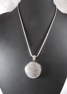 Silver 925 necklace with pendant - length 45 cm - weight 17 g