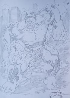 Cruz, Jardel / Studio Ed Benes - 3x original drawings - Hulk + Superman + Witchblade - (2015)
