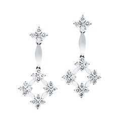 Juan Duyos – White gold earrings with diamond 1.49 ct (Total weight)