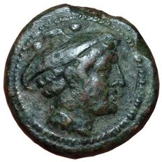 Roman Republic - Anonymous series - AE Sextans (20mm, 6,56g) - Roma mint, c. 211 BC - Head Marcury / Prow of Galley - Cr. 56/6