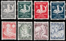 The Netherlands 1929/1930 – Coil perforation children's stamps – NVPH R82/R85 and R86/R89