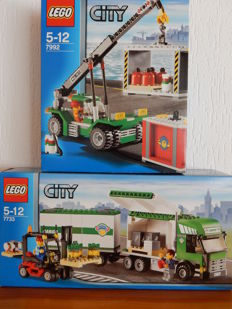 City - 7733 + 7992 - Truck & Forklift + Container Stacker