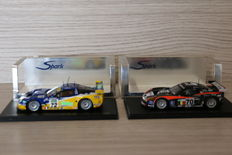 Spark - Scale 1/43 - Lot with 2 Corvette models: Corvette C5R, # 72, Le Mans 2006 & Corvette C6-R  #70, Le Mans 2007