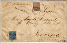 Kingdom of Italy, 1874–1879 – Foreign Post Offices # 6/11, Used on Envelope from Tunis to Livorno