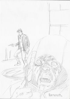 """Brindisi, Bruno - sketch for Dylan Dog """"Il Marchio Rosso"""""""