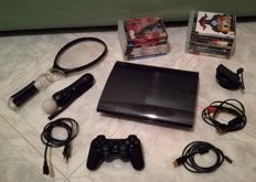 PlayStation 3 ultra slim incl  1 controller , Playstation Eye , PlayStation Move and  13 games